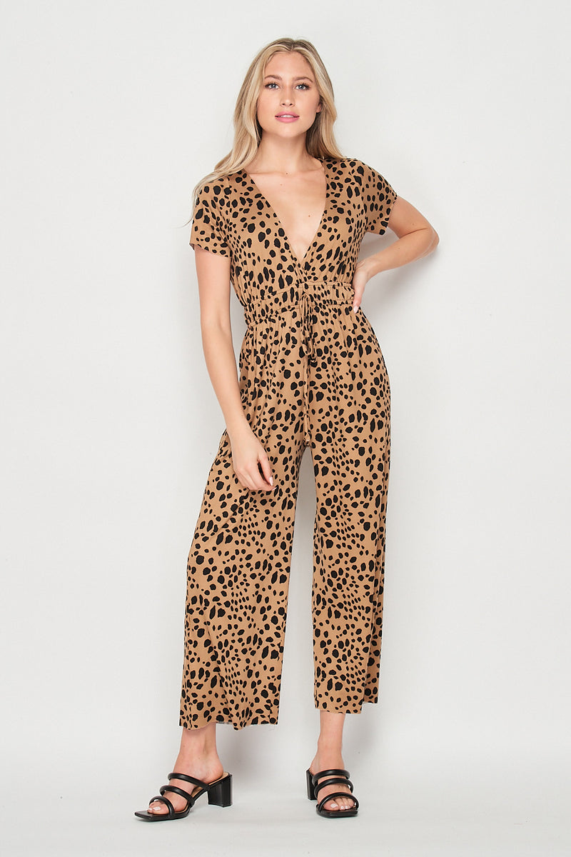 Wild Things Surplice Jumpsuit | Animal - Velvet Torch