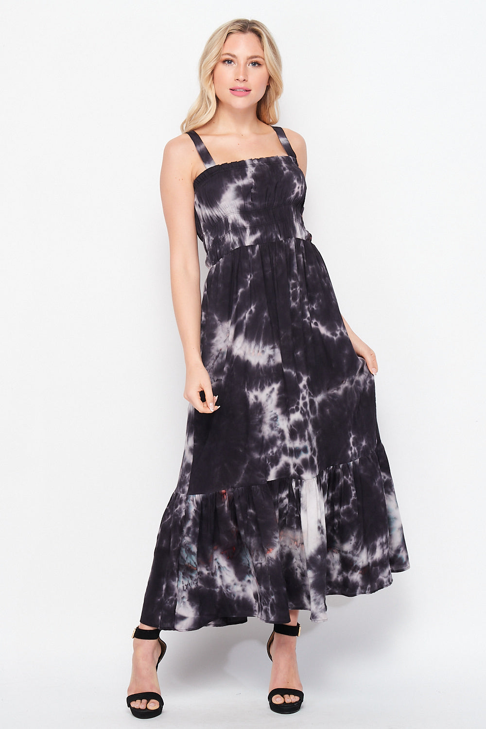 Spring Awakening Maxi Dress w/ Pocket | Tie Dye - Velvet Torch