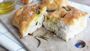 Focaccia with Garlic, Rosemary and olive oil