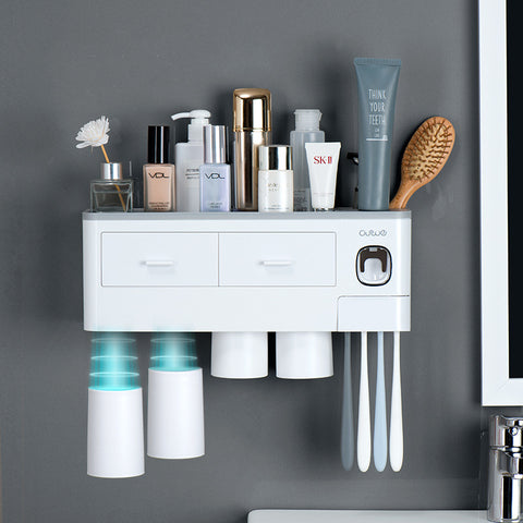 3 Color Bathroom Accessories Toothbrush Holder