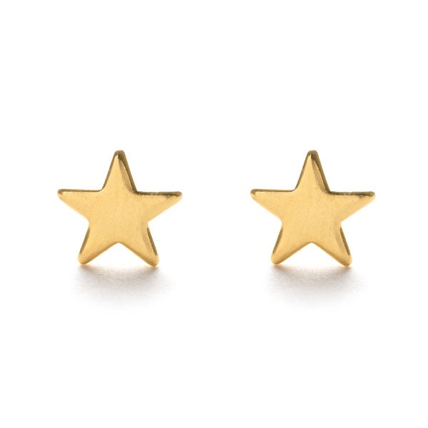 Amano Tiny Gold Star Studs