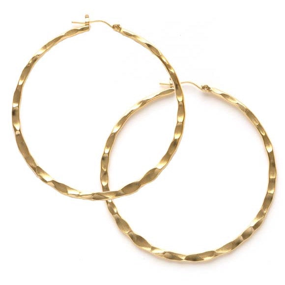 Amano Large Hammered Hoops