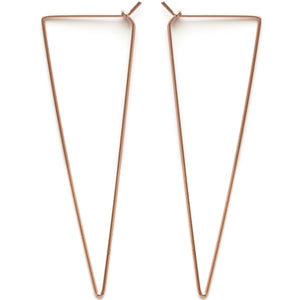 Amano Triangle Hoop - Rose Gold