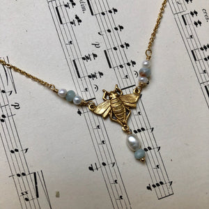 Madame Annie Small Bee Necklace