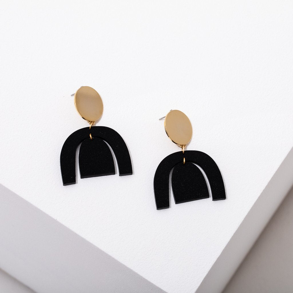 Larissa Loden Brandt Earrings in Gold