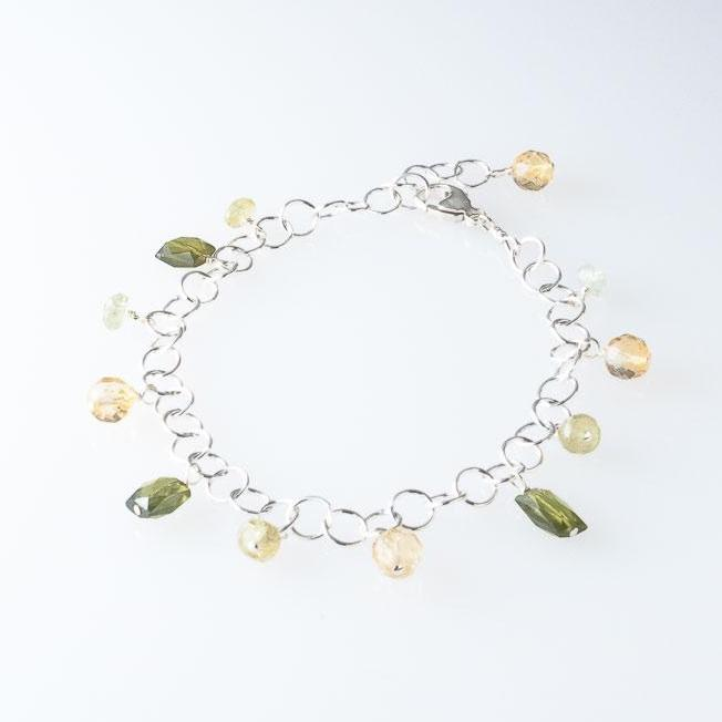 Deana Rose Citrine and Vesuvianite Bracelet