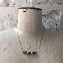 Load image into Gallery viewer, Madame Annie Labradorite Cube Necklace