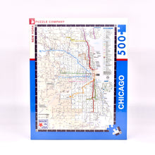 Load image into Gallery viewer, Chicago CTA Transit Map 500 piece Puzzle