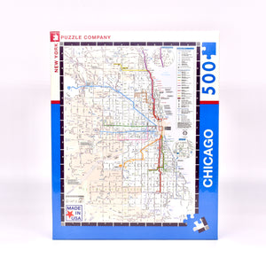 Chicago CTA Transit Map 500 piece Puzzle