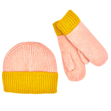 "Load image into Gallery viewer, ""Cotton Candy"" Beanie and Mitten Set (Multiple Colors Available!)"