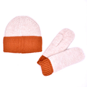 """Cotton Candy"" Beanie and Mitten Set (Multiple Colors Available!)"