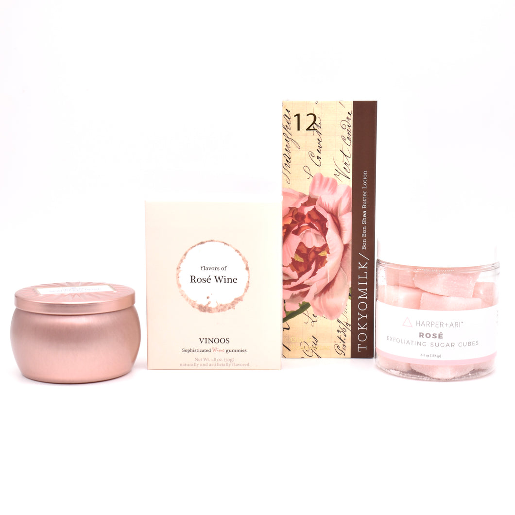 Pampered with Gin & Rosewater Rosé Bundle