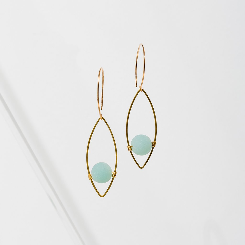 Larissa Loden Georgia Earrings in Amazonite