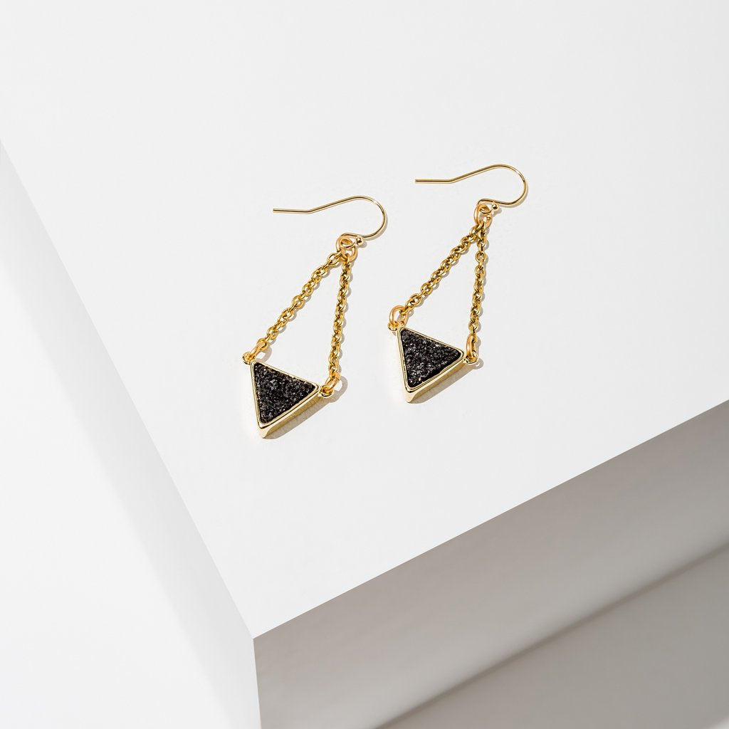 Larissa Loden Tri Drusy Earrings (Multiple Colors Available!)