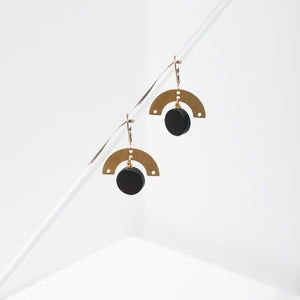 Larissa Loden Lev Earrings in Onyx