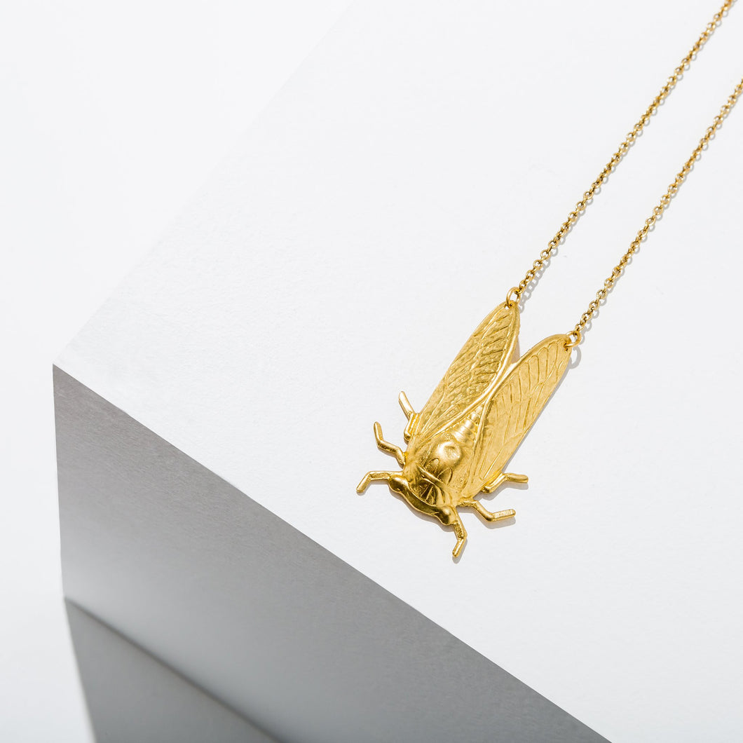 Larissa Loden Gold Plate Cicada Necklace