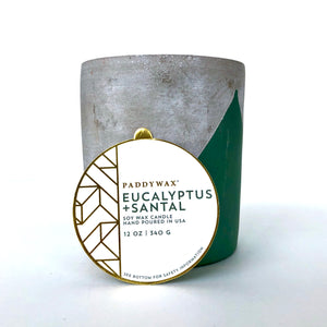 Paddywax 12 oz Concrete Candle (Multiple Scents)