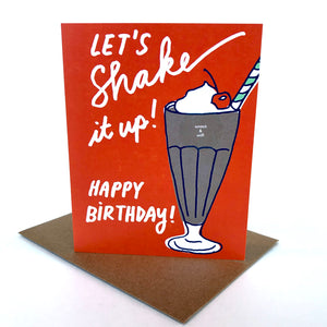 Scratch & Sniff Milkshake Birthday Card