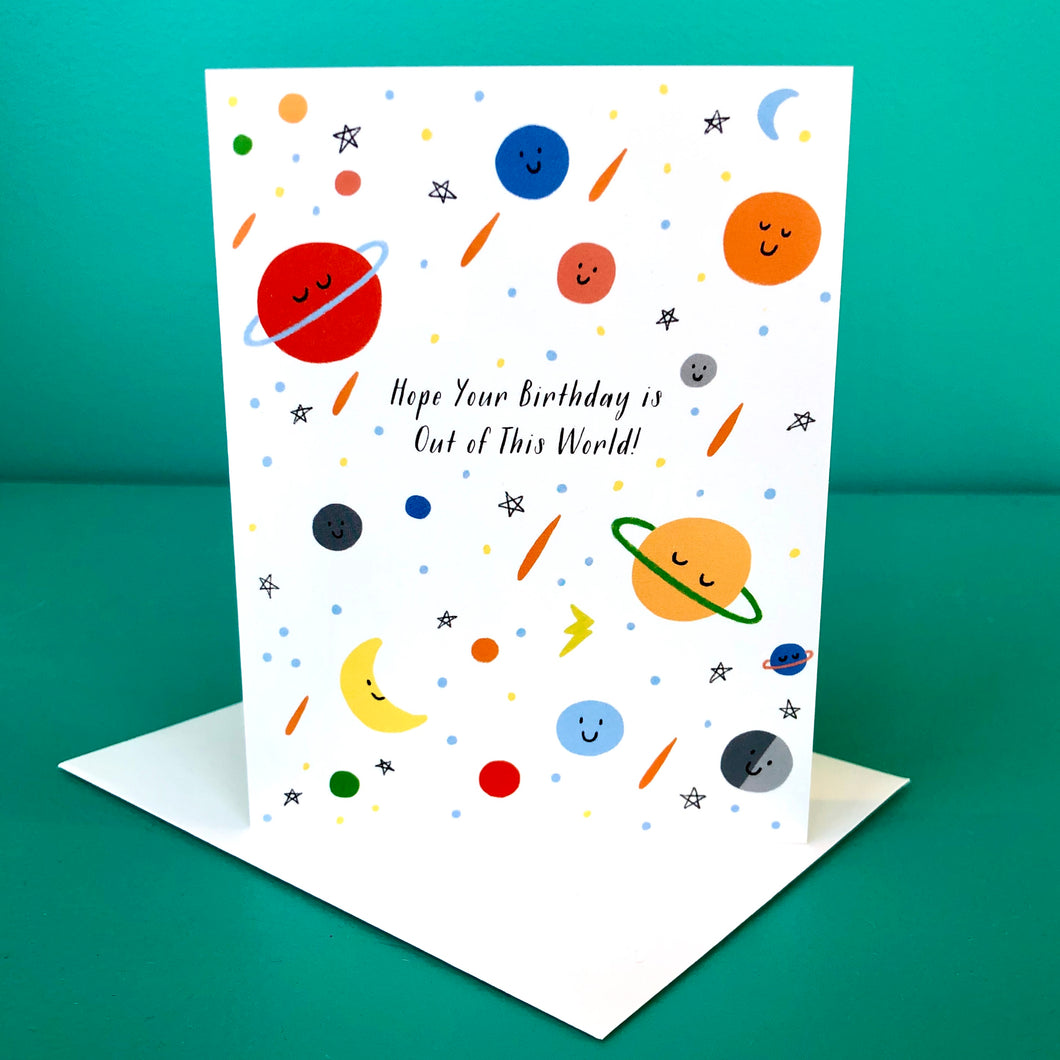 Paula & Waffle Out Of This World Birthday Card