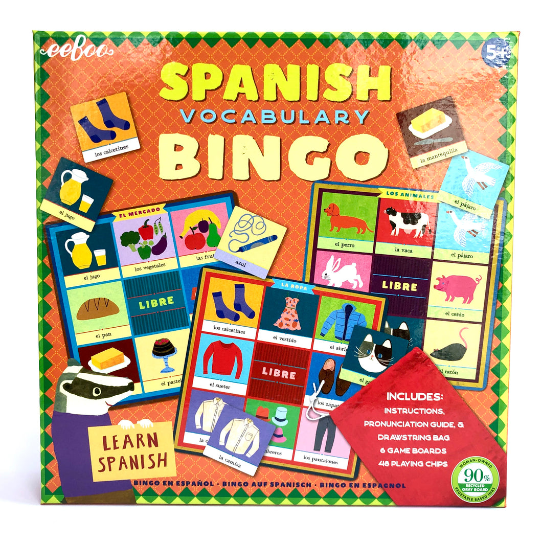 Spanish Vocab Bingo