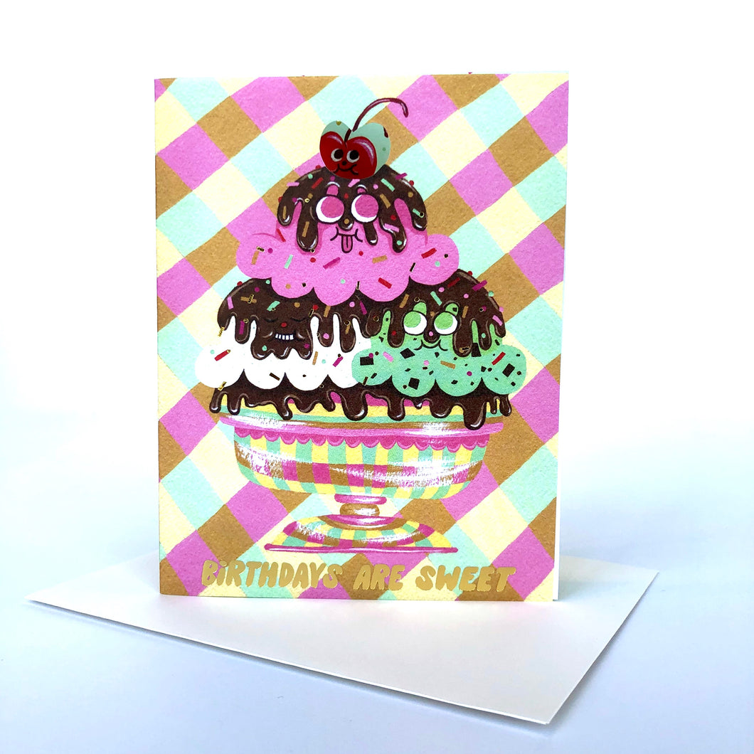 Red Cap Birthdays Are Sweet Card
