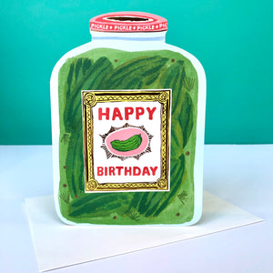 Red Cap Pickle Jar Birthday Card