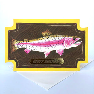Red Cap Fish Birthday Card