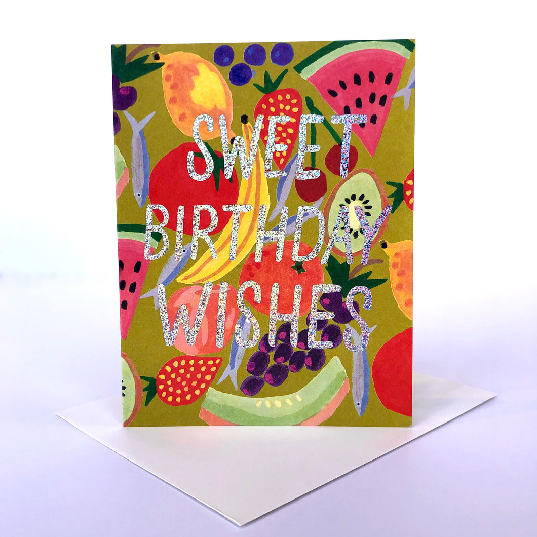 Red Cap Sweet Birthday Wishes Card