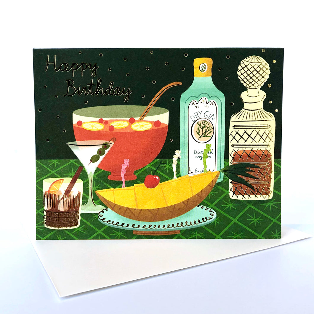 Red Cap Cocktail Birthday Card