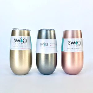 Swig 6oz Champagne Flute (Multiple Colors!)