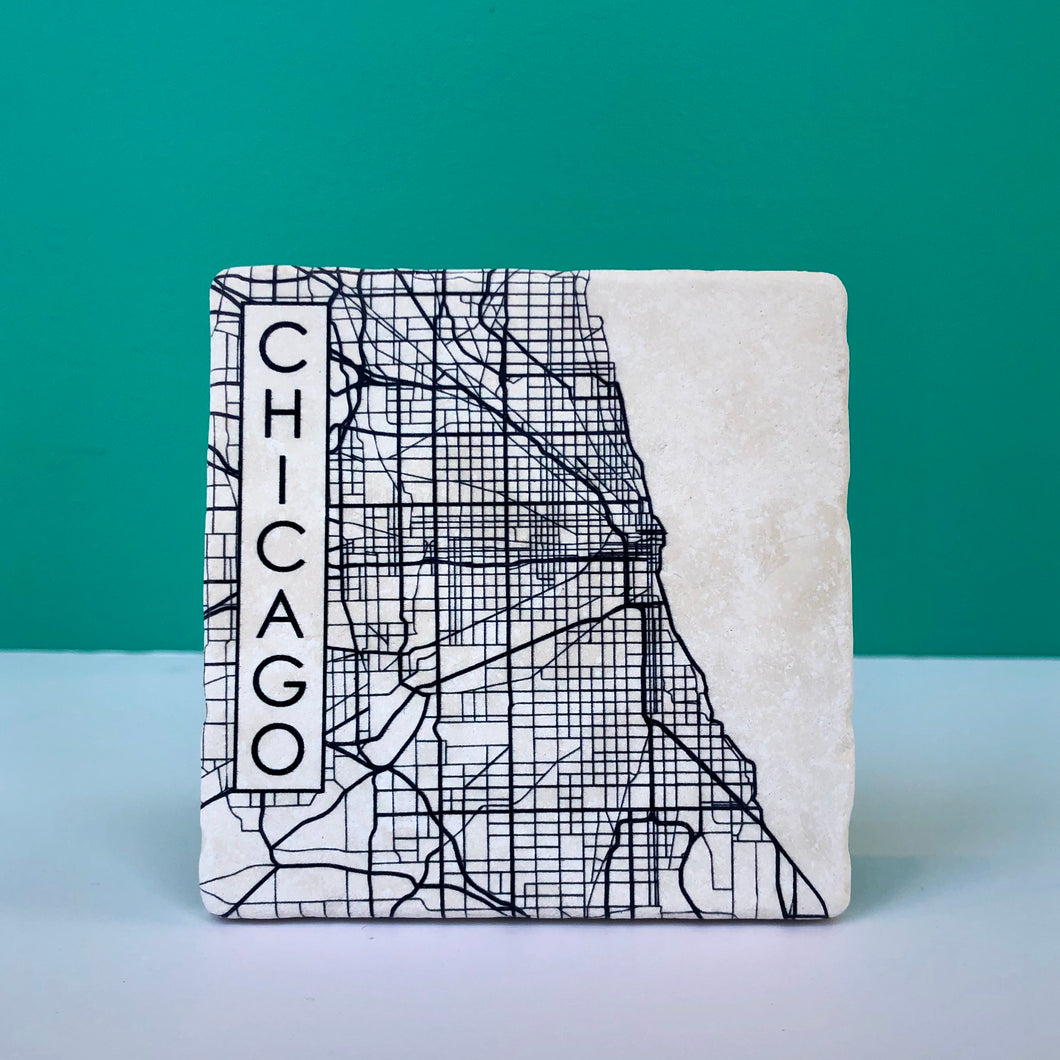 Chicago Map Coaster