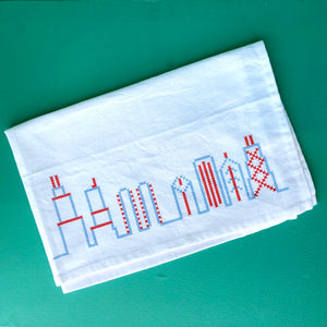 Transit Tees Chicago Themed Flour Sack Towel