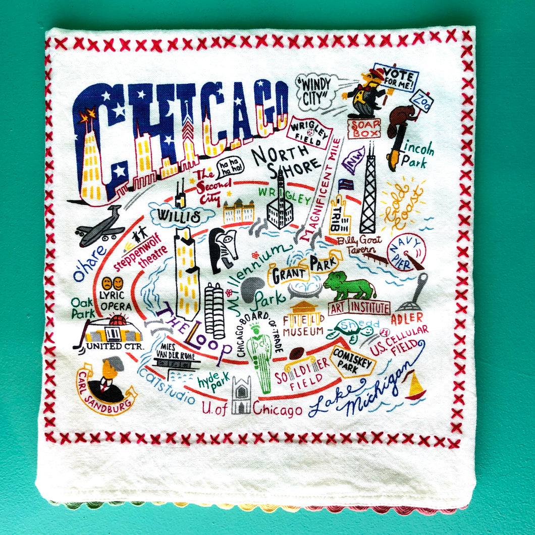 Catstudio Chicago Tea Towel
