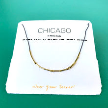 Load image into Gallery viewer, Wear Your Secret Chicago Morse Code Necklace