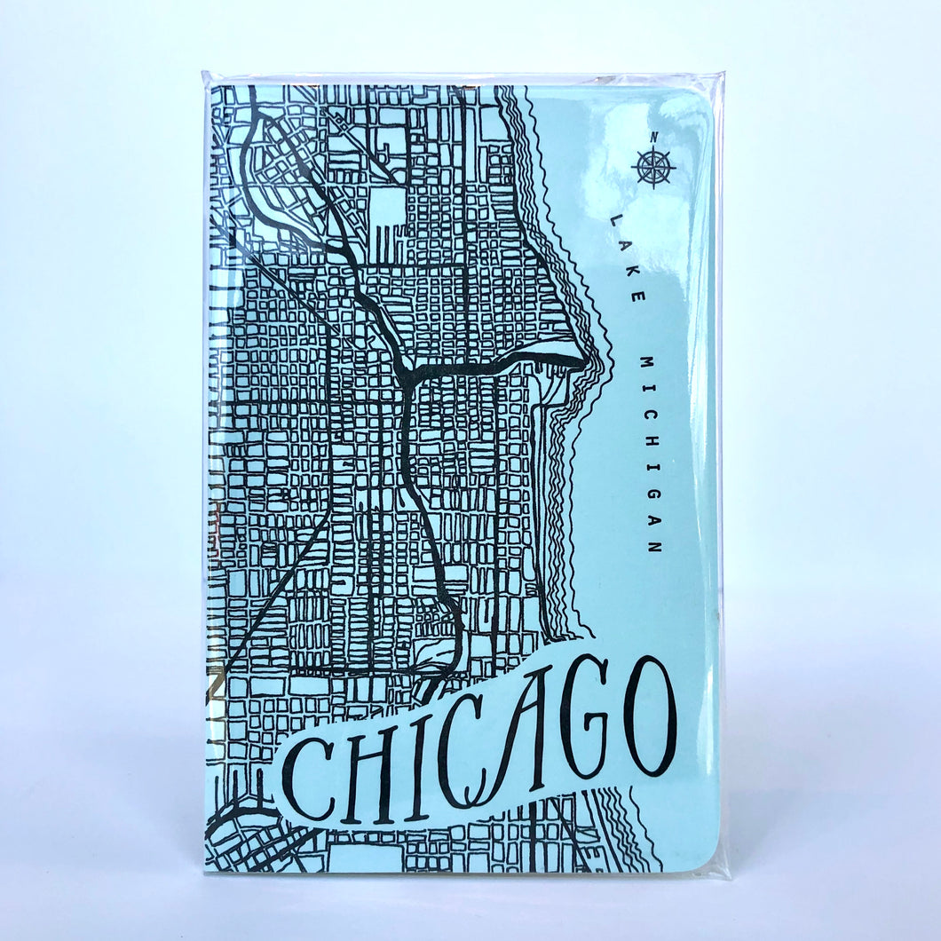 Chicago City Map Large Notebook