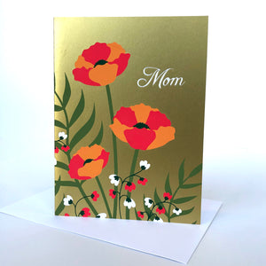Gold Floral Mother's Day Card
