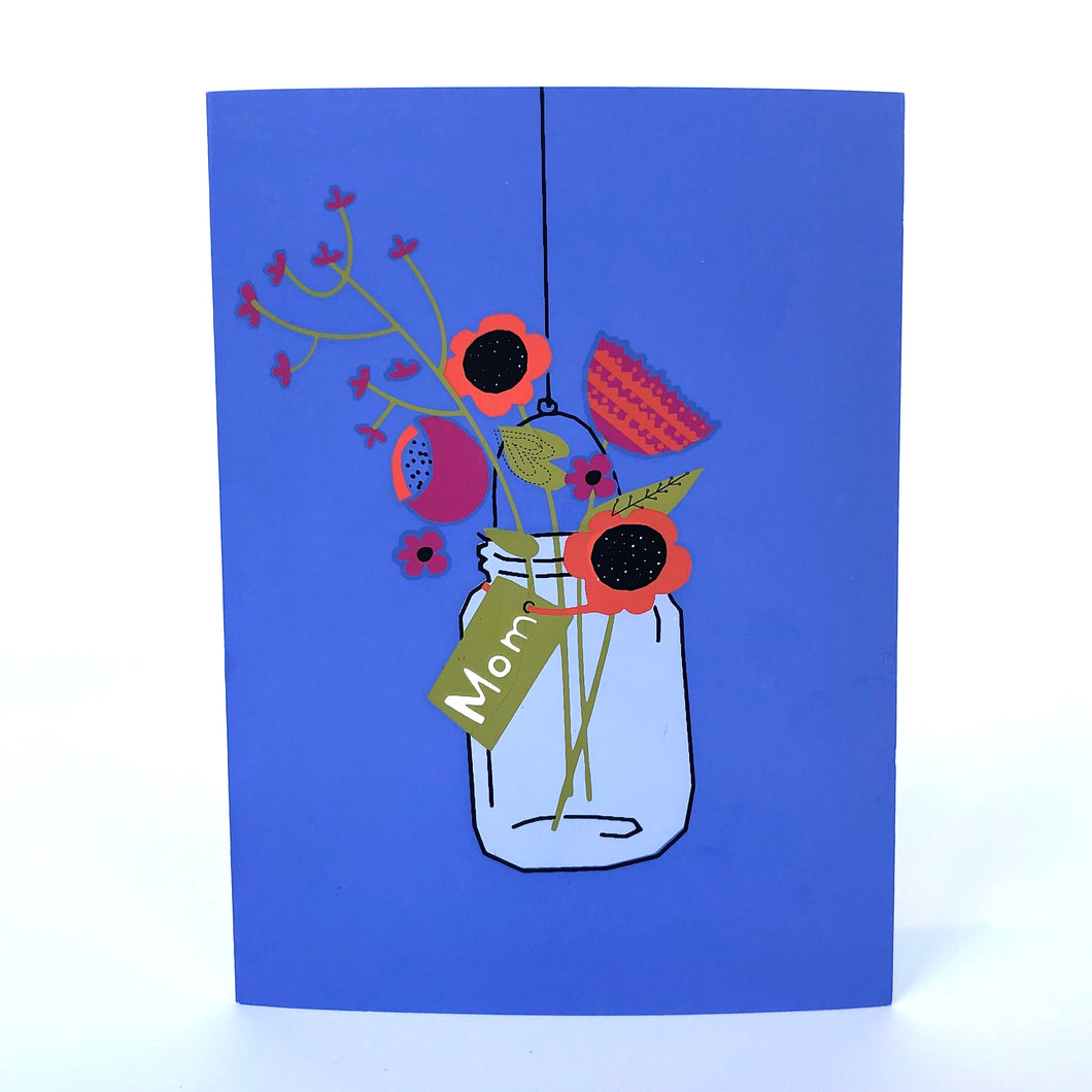 Floral Mason Jar Mother's Day Card