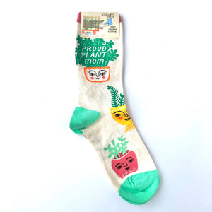 Blue Q Proud Plant Mom Crew Socks