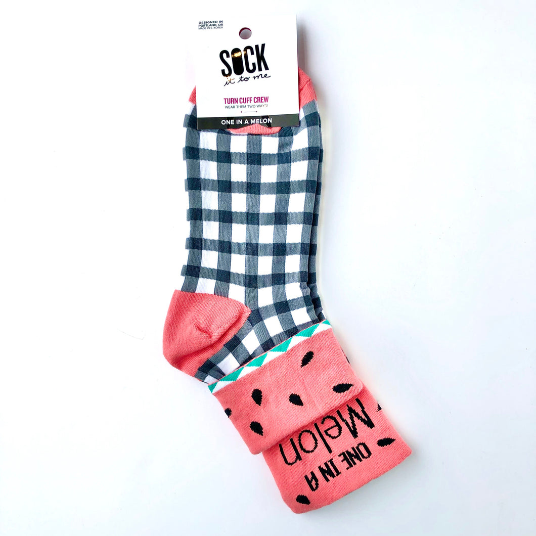 Sock It To Me One In A Melon Crew Socks