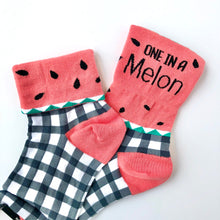 Load image into Gallery viewer, Sock It To Me One In A Melon Crew Socks