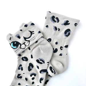 Sock It To Me Check Meowt Crew Socks