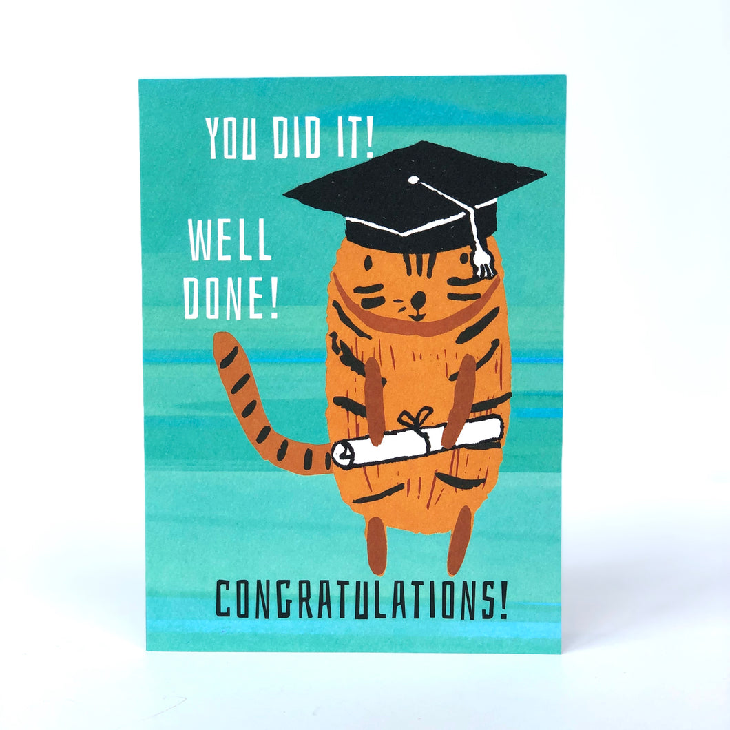You Impressed The Cat Graduation Card
