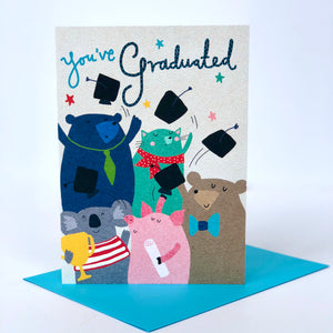 Hats Off You've Graduated Card