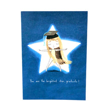 Load image into Gallery viewer, Brightest Star Graduation Card