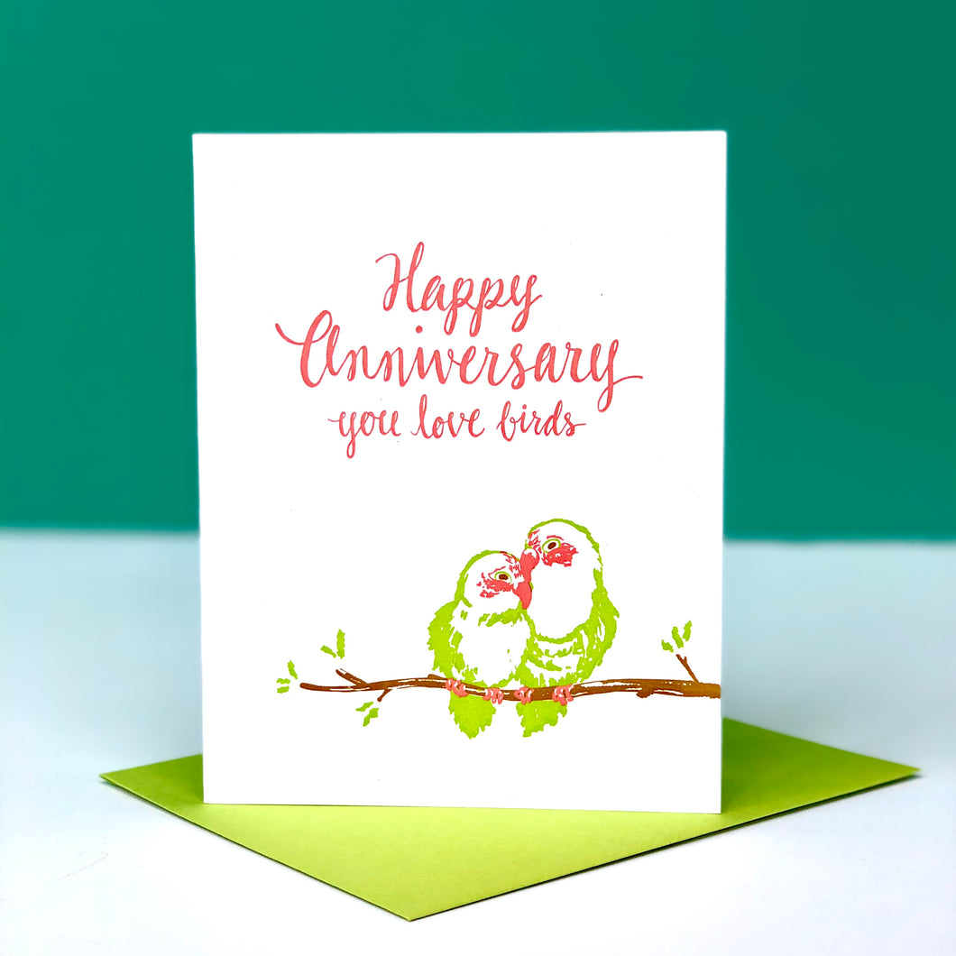 Happy Anniversary Love Birds Card