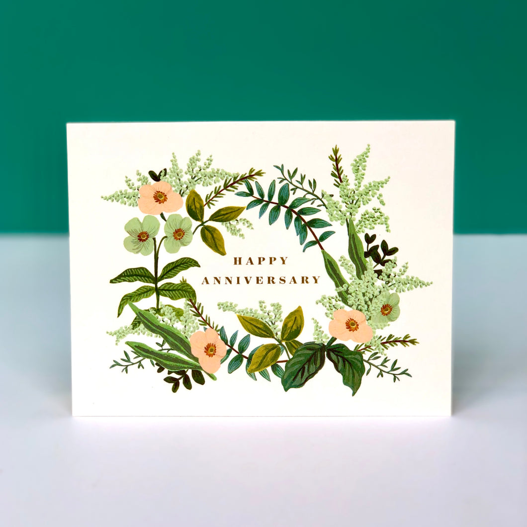 Rifle Anniversary Bouquet Card
