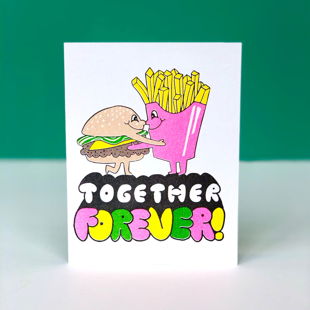 Together Forever Burger & Fries Anniversary Card