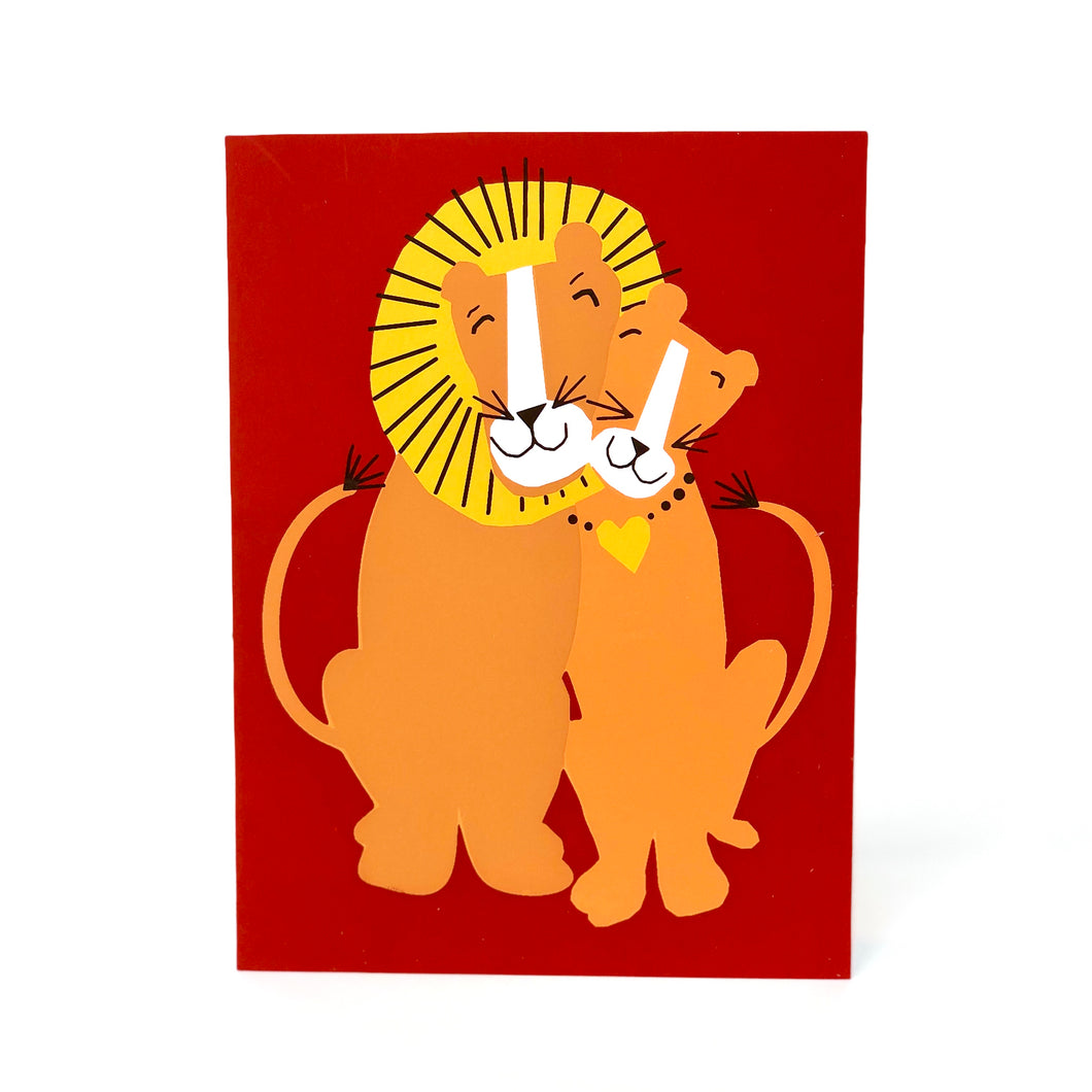 Best Couple Ever Lion Anniversary Card