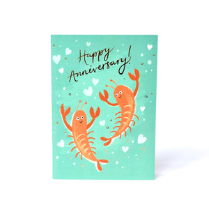 Lobster Anniversary Card