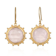 Load image into Gallery viewer, Satya Open Hearted Rose Quartz Earrings
